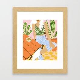 Kawa Tea #illustration #fashion Framed Art Print