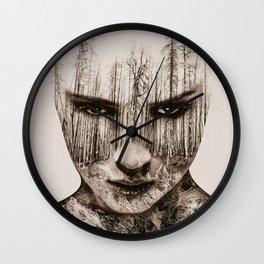Vintage Double Exposure Wall Clock