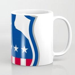 American Soldier Saluting USA Flag Crest Icon Coffee Mug