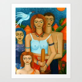 3 Ages of a Woman and a Man Art Print