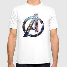The Avengers 2 Mens Fitted Tee White LARGE