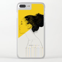 Stay Positive Clear iPhone Case