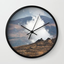 Clouds Float Low, Drifting... Wall Clock
