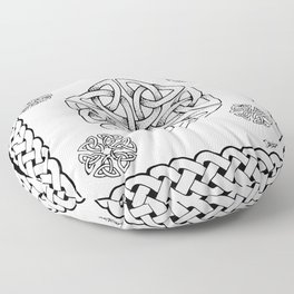 Celtic Knot Snowflake Floor Pillow