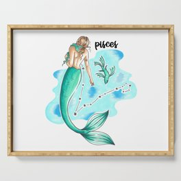 Pisces Mermaid Serving Tray