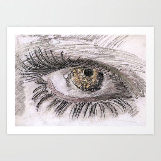 eye tig Art Print