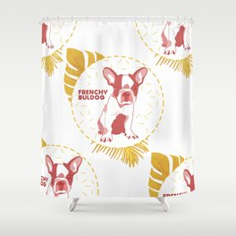 Frenchy Buldog Shower Curtain