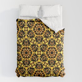 Sunny Gold Pattern Comforters