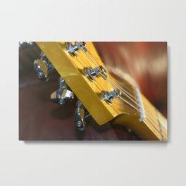 Guitar Headstock Metal Print
