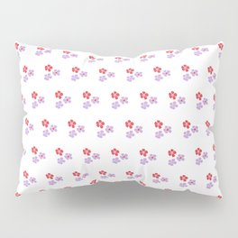Hand painted red violet watercolor floral pattern Pillow Sham