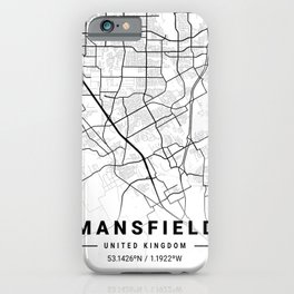 Mansfield Light City Map iPhone Case
