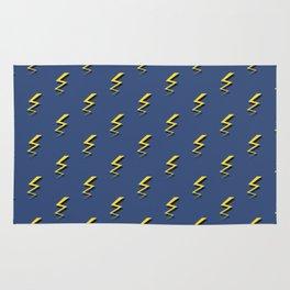 Lightning Bolts - Blue Rug