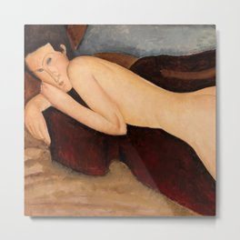"Amedeo Modigliani ""Reclining Nude from the Back (Nu couché de dos)"" Metal Print"