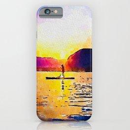 Sunset on Lake Bohinj Slovenia iPhone Case