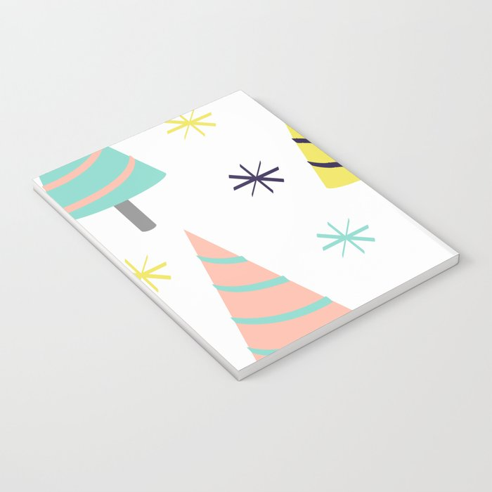 Colorful Christmas Trees Notebook