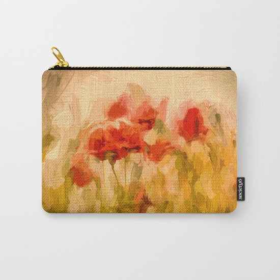 Fiery poppies in a golden cornfield Carry-All Pouch