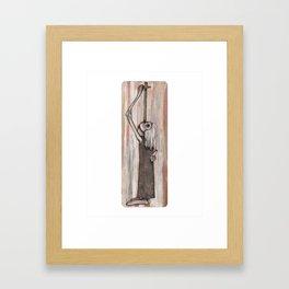 Sword Swallower Framed Art Print