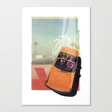 Getaway Car | Collage Canvas Print