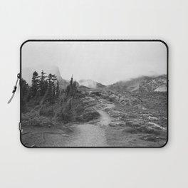 Northwest Mountain Hiking Trail Rocky Forest Black White Landscape Bellingham Washington Laptop Sleeve