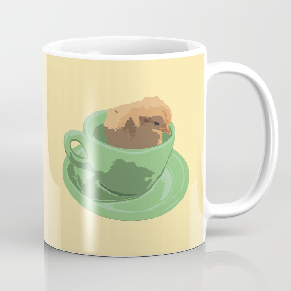 Baby Chick In Jadeite Cup Illustration Mug by Betweentheblossoms MUG8830669