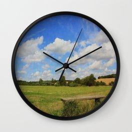 Sit and Enjoy The Countryside Wall Clock
