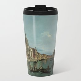 A View of the Grand Canal by Canaletto Travel Mug