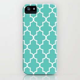 Moroccan - Turquoise iPhone Case
