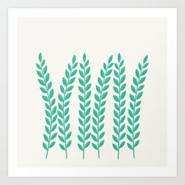 Simply Folk - Olive Branches Art Print