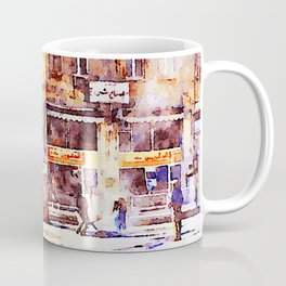 Men at work in the street of Aleppo Coffee Mug