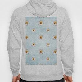 Daisies in love- blue pattern Hoody