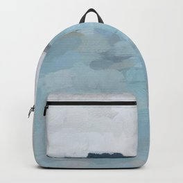 Navy & Baby Blue Abstract Nature Art Painting Backpack