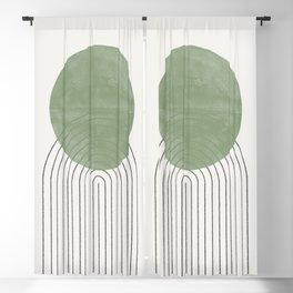 Green Sun Positive Vibe  Blackout Curtain