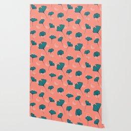 Bright Ginkgo & Dots #society6 #decor #buyart Wallpaper