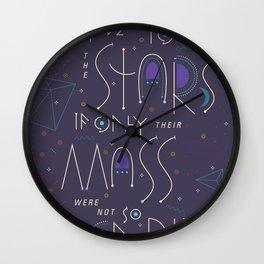 Haikuglyphics - Dear Someone Wall Clock