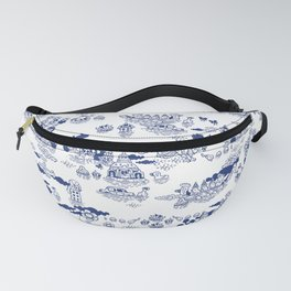 FLOOD IN ANTIQUE CHINESE PORCELAIN Fanny Pack