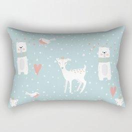 Fawn and Bear Rectangular Pillow
