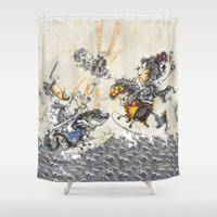 knight Shower Curtains featuring Knight by JoeyDrawing