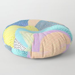 Modern Landscapes and Patterns Floor Pillow