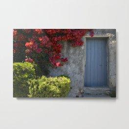 Blue door French Riviera Metal Print