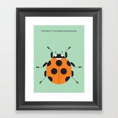 Lady Bug Green Framed Art Print