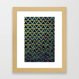 Blue and gold universe Framed Art Print