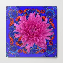 ROSE Lilac Spider Mum FLOWER Blue-orange GARDEN Metal Print