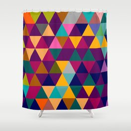 Multicolor triangle shapes pattern Shower Curtain