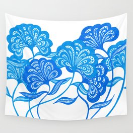 Blue Bloom Wall Tapestry