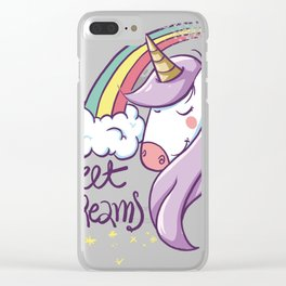 Unicorn colorful Clear iPhone Case