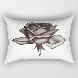 Black and White Rose in Ink Rectangular Pillow