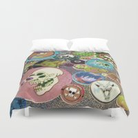 old school Duvet Covers featuring Old School by jajoão