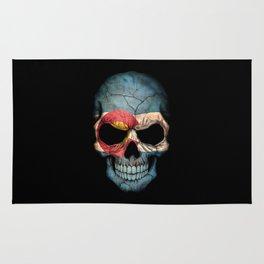 Dark Skull with Flag of Colorado Rug