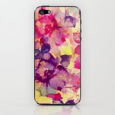 abstract aqua floral iPhone & iPod Skin