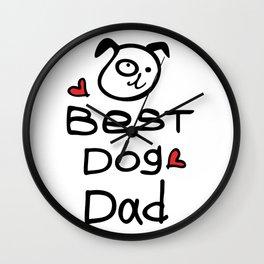 Best dog dad Wall Clock